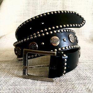 Harley Davidson Genuine Leather Studded Belt